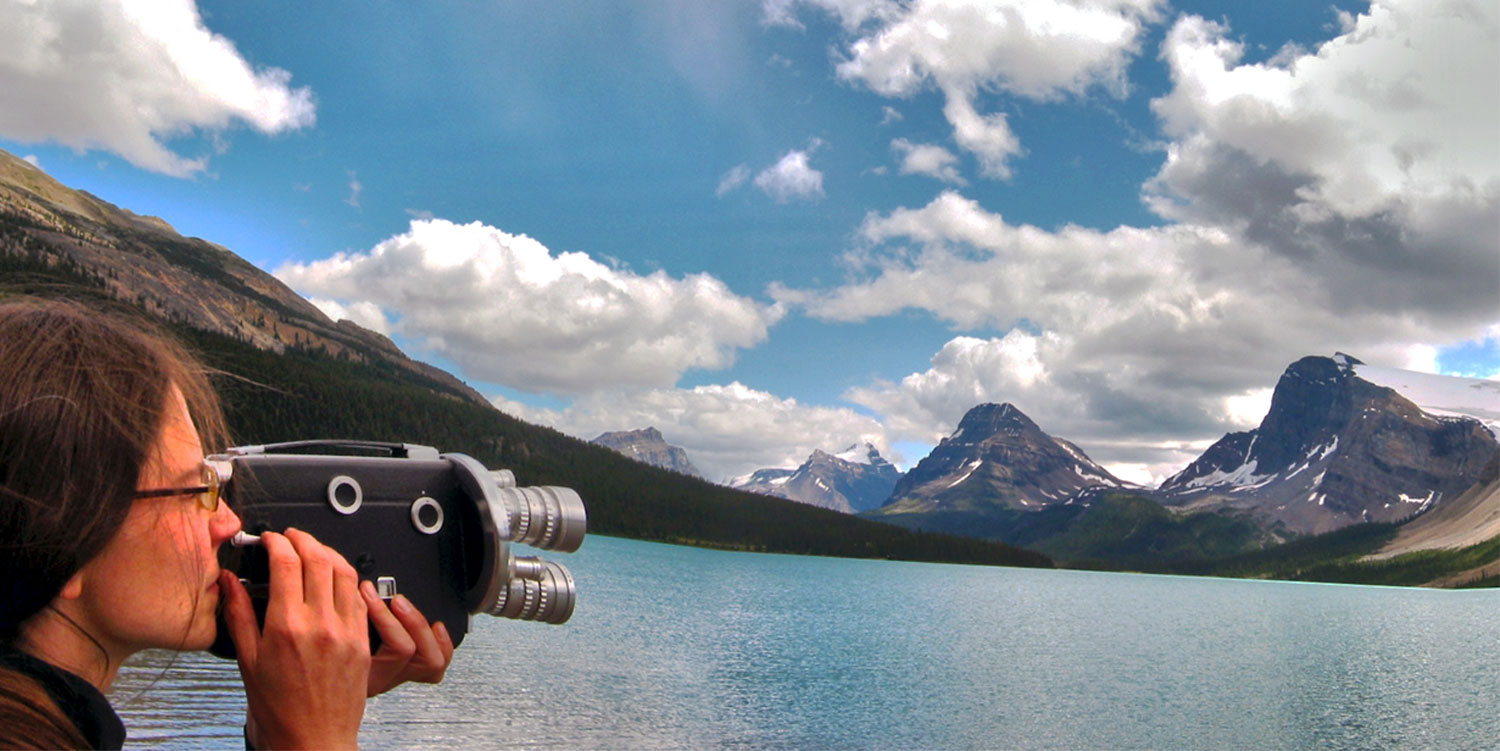 Me & my 16mm film camera, Canadian Rockies, 2002